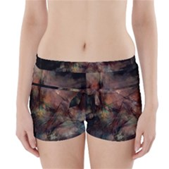 Abstract Fractal Digital Backdrop Boyleg Bikini Wrap Bottoms