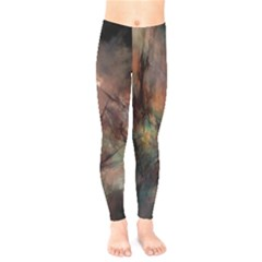 Abstract Fractal Digital Backdrop Kids  Legging by Pakrebo