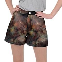 Abstract Fractal Digital Backdrop Stretch Ripstop Shorts
