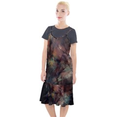 Abstract Fractal Digital Backdrop Camis Fishtail Dress by Pakrebo