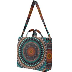 Ornament Circle Picture Colorful Square Shoulder Tote Bag