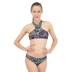 Background Design Art Artwork High Neck Bikini Set