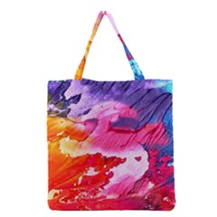 Abstract Art Background Paint Grocery Tote Bag by Pakrebo