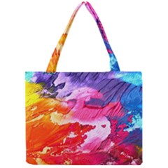 Abstract Art Background Paint Mini Tote Bag by Pakrebo