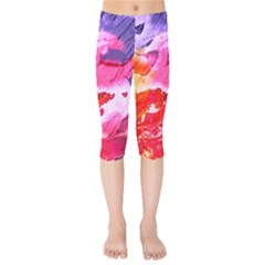 Abstract Art Background Paint Kids  Capri Leggings