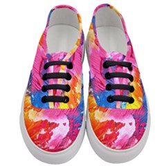 Abstract Art Background Paint Women s Classic Low Top Sneakers