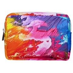 Abstract Art Background Paint Make Up Pouch (medium)