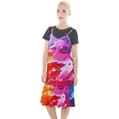 Abstract Art Background Paint Camis Fishtail Dress by Pakrebo