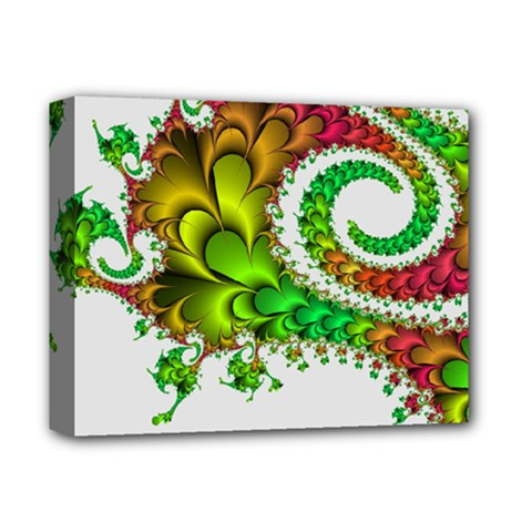 Fractal Abstract Aesthetic Pattern Deluxe Canvas 14  X 11  (stretched)