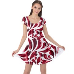 Abstract Geometric Art Fractal Cap Sleeve Dress