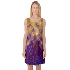 Fractal Rendering Background Sleeveless Satin Nightdress