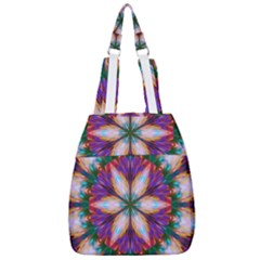 Seamless Abstract Colorful Tile Center Zip Backpack