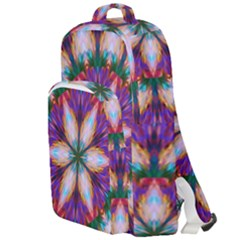 Seamless Abstract Colorful Tile Double Compartment Backpack