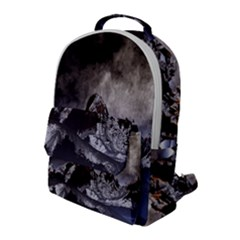 Mountains Moon Earth Space Flap Pocket Backpack (large)