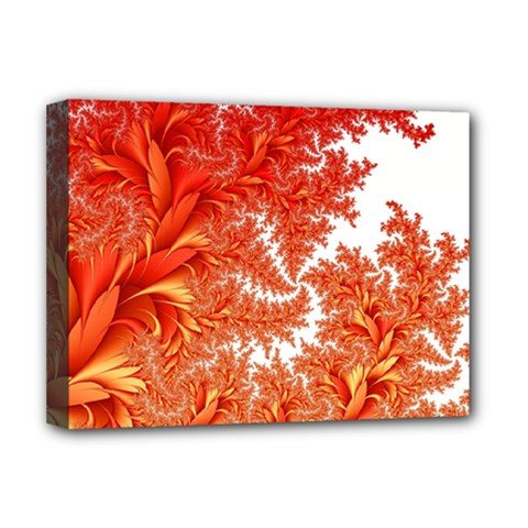 Flora Flowers Background Leaf Deluxe Canvas 16  X 12  (stretched)
