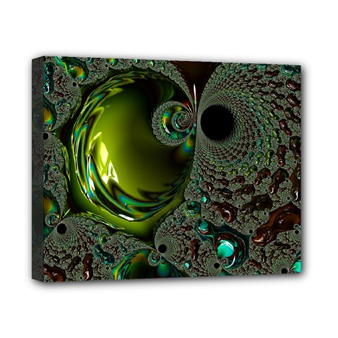 Fractal Intensive Green Olive Canvas 10  X 8  (stretched)