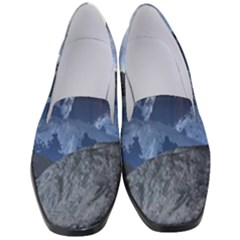 Mountains Moon Earth Space Women s Classic Loafer Heels