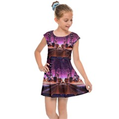 Fractal Mandelbulb 3d Kids  Cap Sleeve Dress