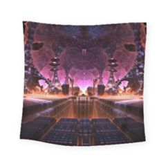 Fractal Mandelbulb 3d Square Tapestry (small)