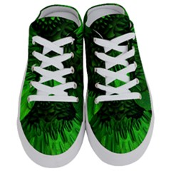 Fractal Rendering Background Green Half Slippers