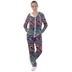 Seamless Abstract Marble Colorful Women s Tracksuit by Pakrebo