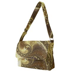 Fractal Golden Background Aesthetic Full Print Messenger Bag