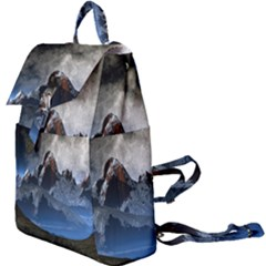 Mountains Moon Earth Space Buckle Everyday Backpack