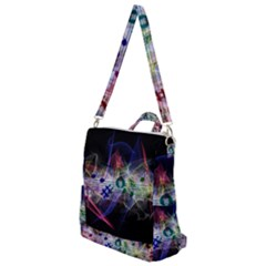 Brush Particles Music Clef Wave Crossbody Backpack