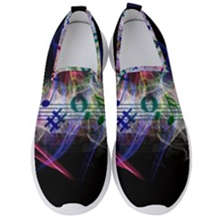 Brush Particles Music Clef Wave Men s Slip On Sneakers