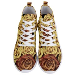 Roses Flowers Love Red Plant Men s Lightweight High Top Sneakers
