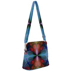 Fractal Fractal Background Design Zipper Messenger Bag