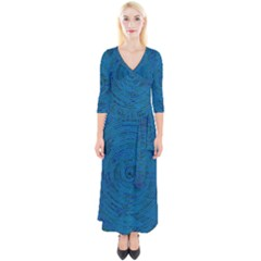 Big Data Information Data Quarter Sleeve Wrap Maxi Dress