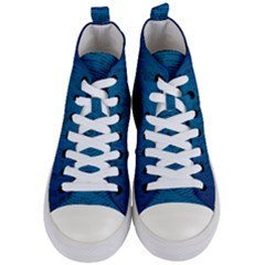Big Data Information Data Women s Mid Top Canvas Sneakers