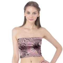 Fractal Tender Rose Cream Tube Top