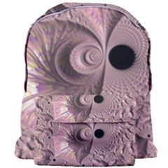 Fractal Tender Rose Cream Giant Full Print Backpack