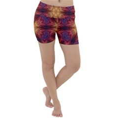 Fractal Abstract Artistic Lightweight Velour Yoga Shorts by Pakrebo