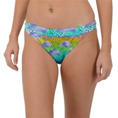 Colorful Iridescent Clouds Band Bikini Bottom by tarastyle