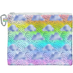 Colorful Iridescent Clouds Canvas Cosmetic Bag (xxxl) by tarastyle