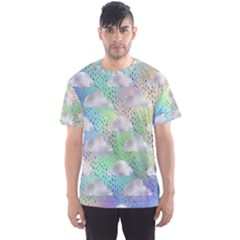 Colorful Iridescent Clouds Men s Sports Mesh Tee