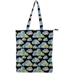 Colorful Iridescent Clouds Double Zip Up Tote Bag