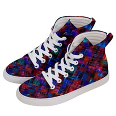 Abstract Glitch Pattern Women s Hi Top Skate Sneakers by tarastyle