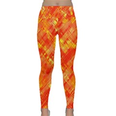 Abstract Glitch Pattern Lightweight Velour Classic Yoga Leggings by tarastyle