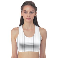 Bright Linear Abstract Print Sports Bra by dflcprintsclothing