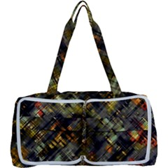 Abstract Glitch Pattern Multi Function Bag by tarastyle