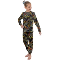 Abstract Glitch Pattern Kids  Long Sleeve Set  by tarastyle