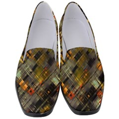 Abstract Glitch Pattern Women s Classic Loafer Heels