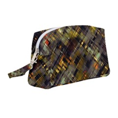 Abstract Glitch Pattern Wristlet Pouch Bag (medium)