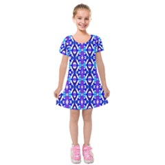 Ml 126 2 Kids  Short Sleeve Velvet Dress