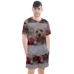 Cockapoo In Dog s Bed Men s Mesh Tee And Shorts Set