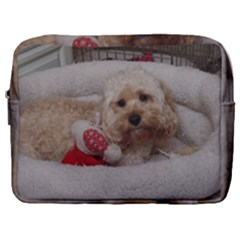 Cockapoo In Dog s Bed Make Up Pouch (large)